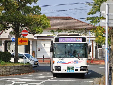 西日本鉄道「なかま号」 9916 JR中間駅前にて