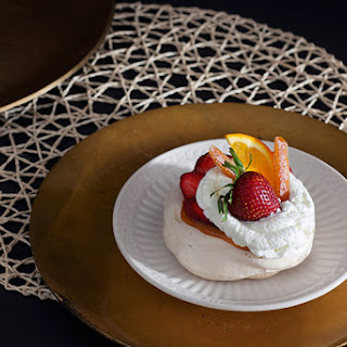 Triple Orange Mini-Pavlova with Fresh Whipped Cream