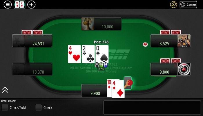 интерфейс стола PokerStars