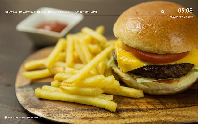 Cheese Fries Wallpaper HD New Tab Theme