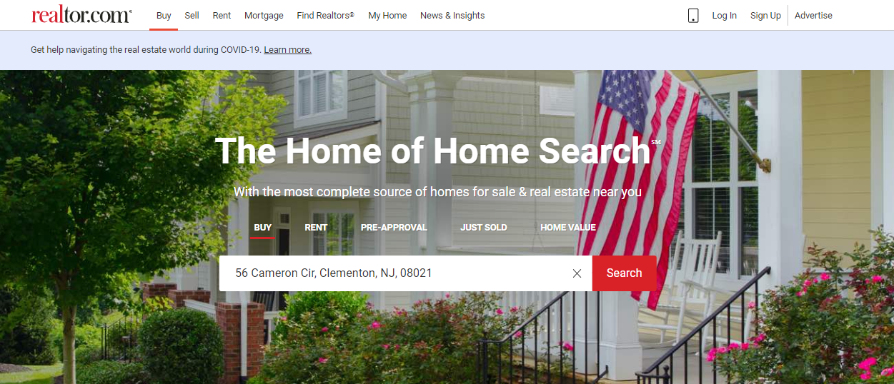 Property Listing Website - Realtor