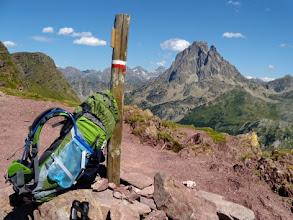 Photo: Col d'Ayous, 2185m, Pic du Midi d'Ossau sullo sfondo.