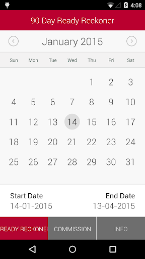 90 Day Ready Reckoner Screenshot 1