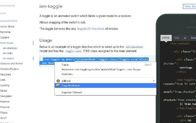Copy html in jade