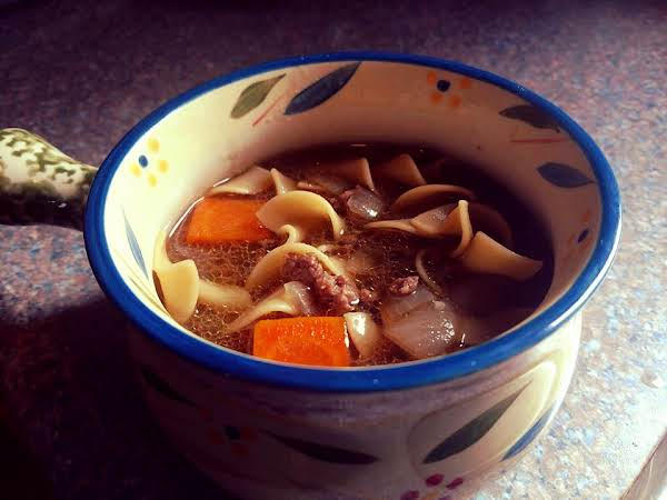 Ground Beef Noodle Soup Recipe