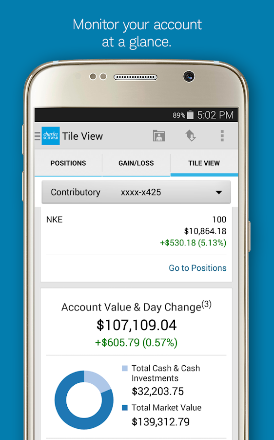 Schwab Mobile- screenshot