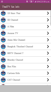 Thailand TV channels (Sat info) provides FREE - náhled