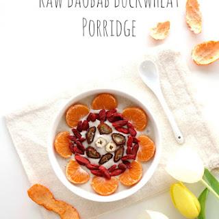 Raw Baobab Buckwheat Porridge.