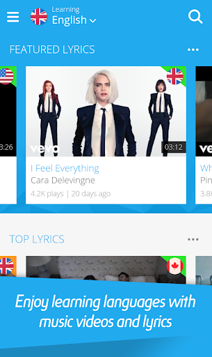 LyricsTraining - Learn English, Spanish, French... 0.9.4 screenshots 1