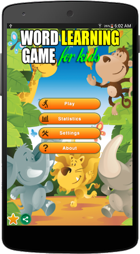 Word Learning Game For Kids