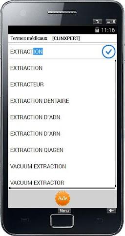 android Termes médicaux Screenshot 0