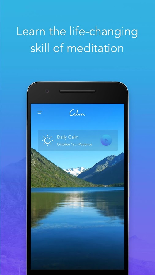 Calm - Meditate, Sleep, Relax: captura de pantalla