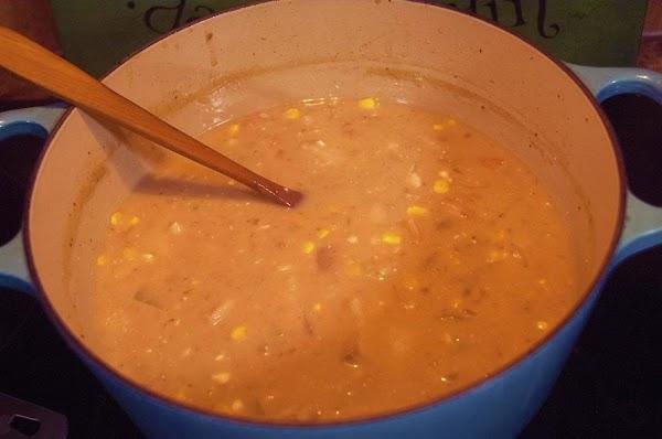 Reduce heat to medium low, and add the cream, cream cheese,  hot sauce,...
