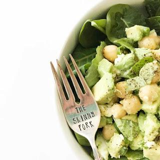 Avocado Chickpea Feta Salad.