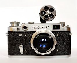 Photo: FED 2 with Industar 26m lens and turret view finder