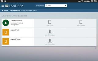 Screenshot of LANDESK Workspaces