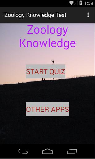 Zoology knowledge Test