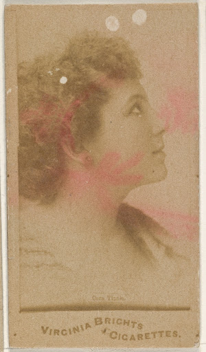 Cora Tisch, from the Actors and Actresses series (N45, Type 1) for Virginia Brights Cigarettes