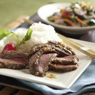 Marinated Asian Flank Steak.