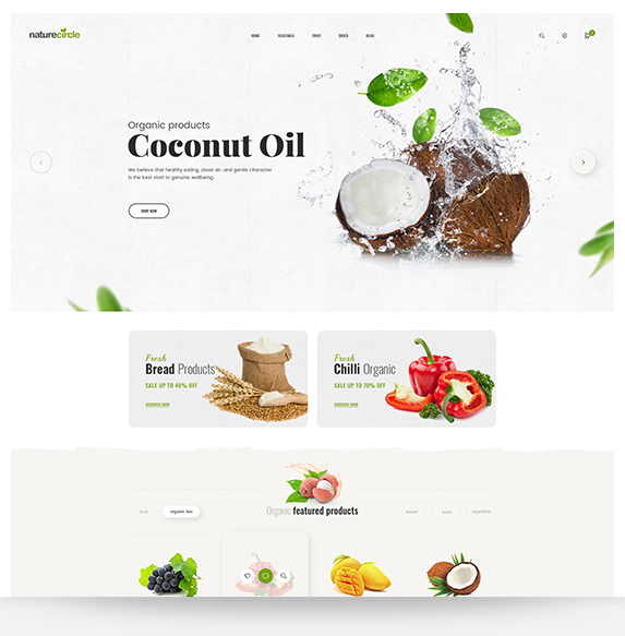 Fruits and vegetables magento theme NatureCircle