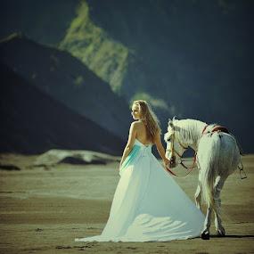 katerina's horse by Sapto Nugroho - People Portraits of Women