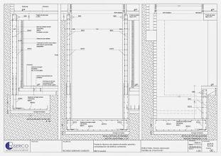 Photo: Plano de detalle de los nuevos muros de contención del sótano