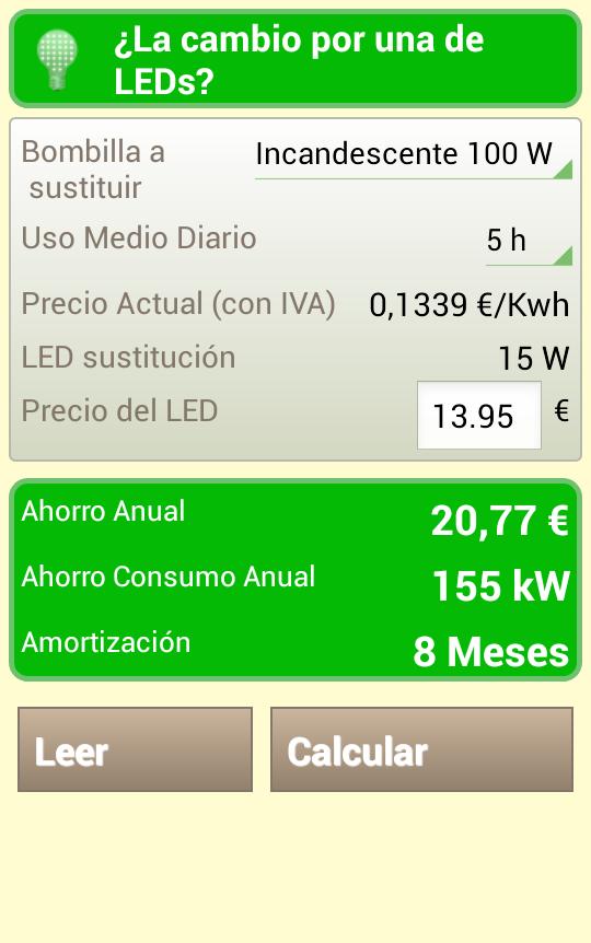 Ahorra en luz precio luz hora aplicaciones de android - Precio hora jardinero ...