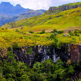 Mountain Falls by Morne Kotze - Landscapes Mountains & Hills ( hills, mountain, falls, waterfall, landscape,  )
