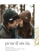Pencil Us In - Save the Date item