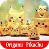 How to make origami Pikachu