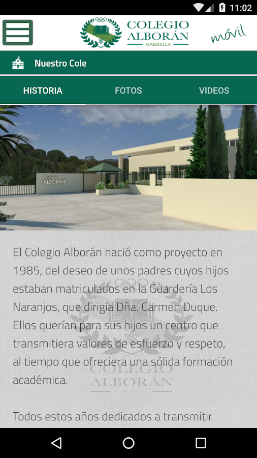 Colegio Alborán- screenshot