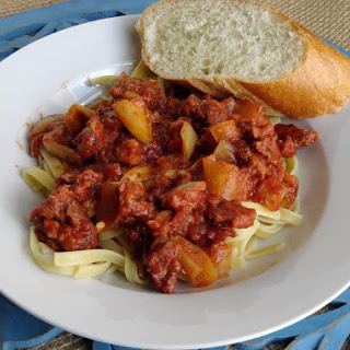 Sausage Cacciatore with Grandma's Peppers.