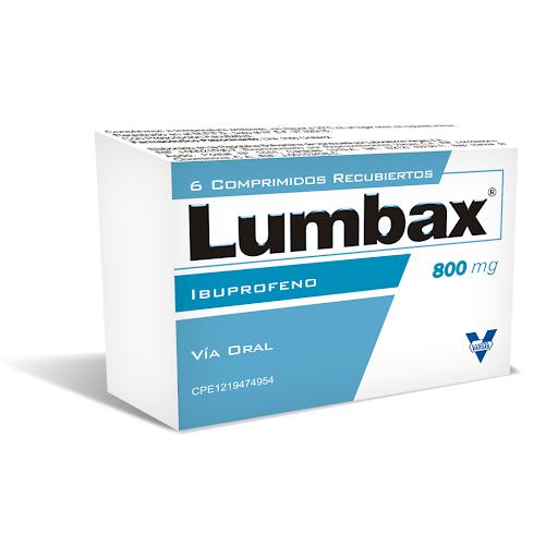 Ibuprofeno Lumbax 800mg x 6 Tabletas