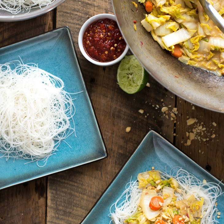Vegan Stir-Fried Cabbage in Peanut Sauce Recipe
