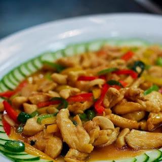 Thai Basil Chicken with Cashews.