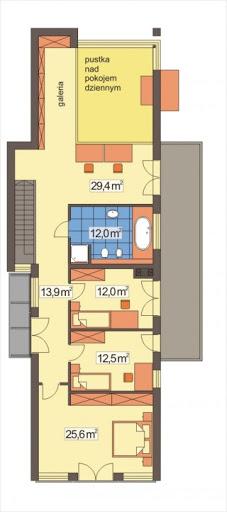 Dakota wersja A - Rzut piętra