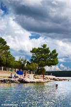 Photo: #TRAVEL #PHOTOGRAPHY  Crystal water and cloudy sky in Nerezine, Croazia
