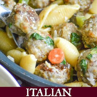 Italian Wedding Soup Pasta Skillet.