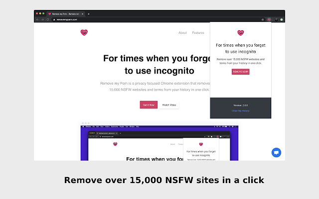 Clean my history - Remove NSFW sites