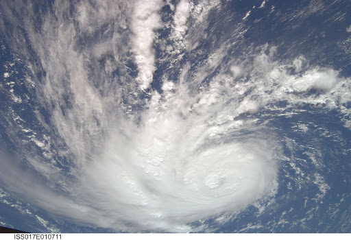 Hurricane Bertha taken by the Expedition 17 Crew
