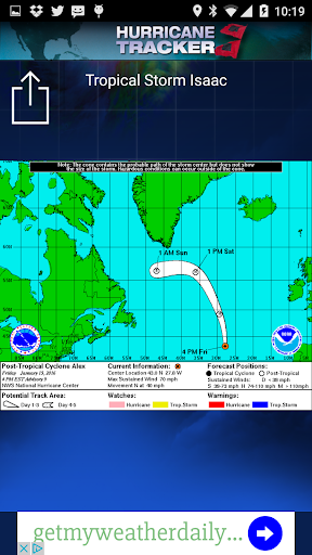Hurricane Tracker Screenshot