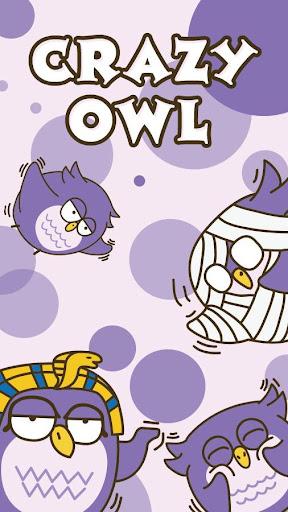 GO Keyboard Sticker Crazy Owl