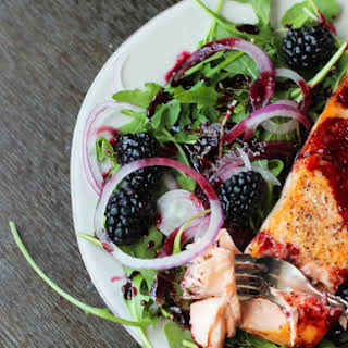 Salmon with Blackberry Sauce.