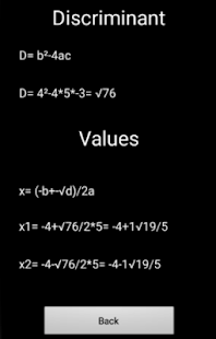 Discriminant values - náhled