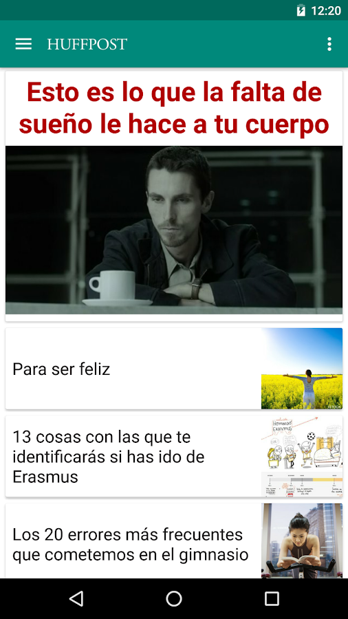 El Huffington Post: captura de pantalla