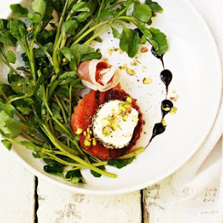 Grilled Watermelon Watercress Salad Recipe