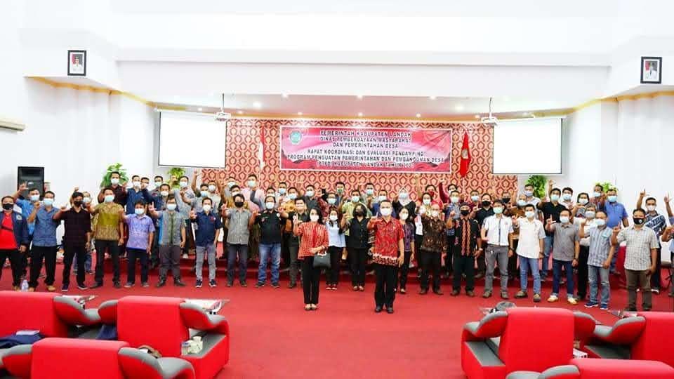 DPMPD Mengadakan Rakor Pendamping Desa, Bupati Landak Ingatkan Bekerjalah Sesuai Program Prioritas Pemerintah