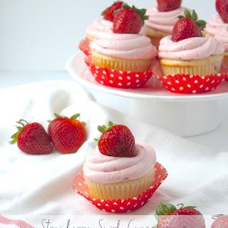 Strawberry Swirl Cupcakes with Fresh Strawberry Buttercream
