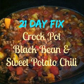 21 Day Fix Crock Pot Sweet Potato Chili.