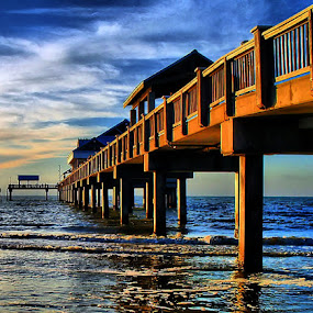 Pier Perspective by Terry Davey - Buildings & Architecture Bridges & Suspended Structures ( pier perspective )